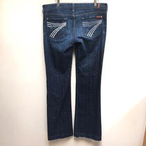7 for All Mankind Dojo Flare Jeans 30 x 33 Dark